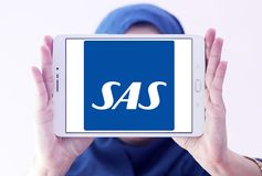 Scandinavian Airlines, SAS logo Royalty Free Stock Photo