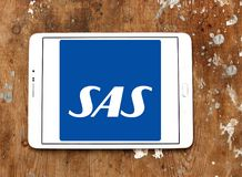 Scandinavian Airlines, SAS logo Stock Images