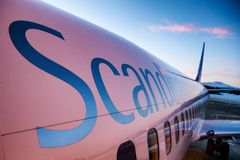 Scandinavian Airlines royalty free stock images
