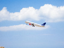 Scandinavian Airlines takeoff 2 Royalty Free Stock Photos