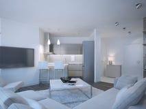 Scandinavian apartment studio Stock Images
