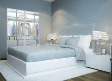 Scandinavian bedroom design Stock Image