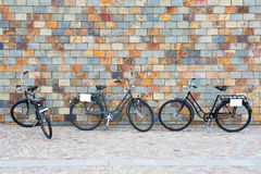 Scandinavian bicycles Royalty Free Stock Images