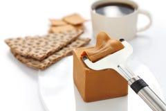Scandinavian brown cheese Stock Photo