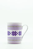 Scandinavian Christmas cup with pattern isolated on white backgr Royalty Free Stock Image