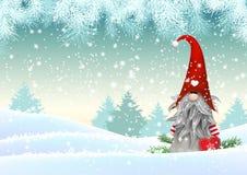 Free Scandinavian Christmas Traditional Gnome, Tomte, Illustration Stock Image - 78548251