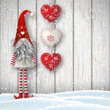 Scandinavian christmas traditional gnome, Tomte, illustration stock illustration