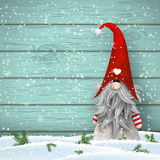 Scandinavian christmas traditional gnome, Tomte, illustration Stock Images