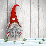 Scandinavian christmas traditional gnome, Tomte, illustration stock illustration