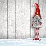 Scandinavian christmas traditional gnome, Tomte, illustration Stock Image