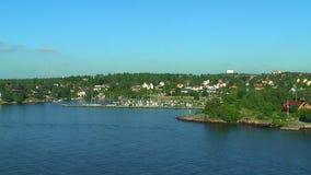 Scandinavian countryside stock video footage