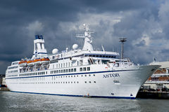 Scandinavian cruise ship Stock Photo