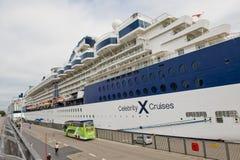 Scandinavian cruise ship Stock Image