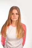 Scandinavian cute young girl expressions Royalty Free Stock Images