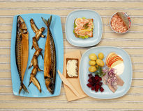 Scandinavian fish buffet Stock Photography