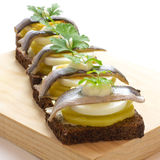 Scandinavian Fish Canapes - Party Food Royalty Free Stock Photos