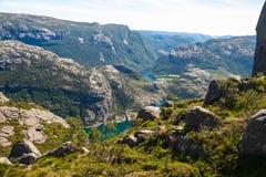 Scandinavian Fjord Landscape Stock Image