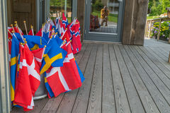 Scandinavian flags Stock Image