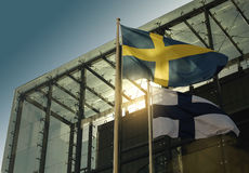 Scandinavian flags Stock Image
