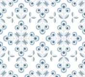 Scandinavian floral background, mid century wallpaper, seamless pattern,. Scandinavian floral background, mid century wallpaper, seamless pattern. Vector Stock Image