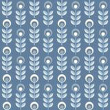 Scandinavian floral background, mid century wallpaper, seamless pattern,. Scandinavian floral background, mid century wallpaper, seamless pattern. Vector Royalty Free Illustration