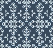 Scandinavian floral background, mid century wallpaper, seamless pattern,. Scandinavian floral background, mid century wallpaper, seamless pattern. Vector Royalty Free Stock Image