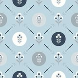 Scandinavian floral background, mid century wallpaper, seamless pattern,. Scandinavian floral background, mid century wallpaper, seamless pattern. Vector Royalty Free Stock Photography