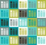 Scandinavian floral pattern Stock Photo