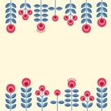Scandinavian flowers Stock Image