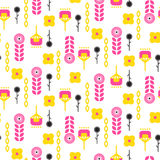 Scandinavian folk floral art pattern seamless vector. Stock Image