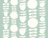 Scandinavian folk style flowers, seamless pattern Royalty Free Stock Photos
