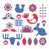 Scandinavian style elements royalty free illustration