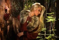Free Scandinavian Girl With Fur Skins Royalty Free Stock Image - 26720526