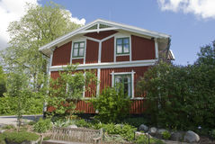 Scandinavian house Stock Photography