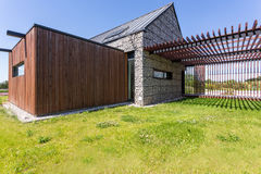 Scandinavian house with pebbled elevation Stock Images