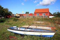 Scandinavian house, Snogebaek, Bornholm, Denmark Stock Photo