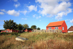 Scandinavian house, Snogebaek, Bornholm, Denmark Royalty Free Stock Photos