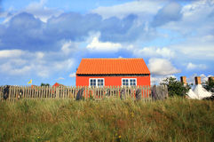 Scandinavian house, Snogebaek, Bornholm, Denmark Royalty Free Stock Photography