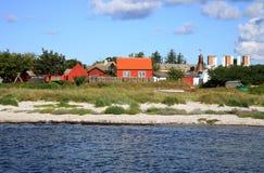 Scandinavian house, Snogebaek, Bornholm, Denmark Stock Photos