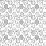 Scandinavian doodle monochrome forest texture pattern. Scandinavian ikea style doodle monochrome forest pattern on a white background stock illustration