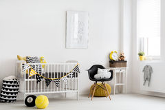 Scandinavian inspiration for a baby room Stock Photo