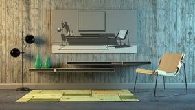 Scandinavian interior Stock Images