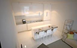 Scandinavian kitchen studio Royalty Free Stock Photography