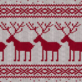 Scandinavian knitted seamless pattern Stock Images