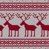Scandinavian knitted seamless pattern Stock Images