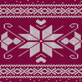 Scandinavian knitted seamless pattern Stock Image