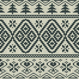 Scandinavian knitted seamless pattern Stock Photos