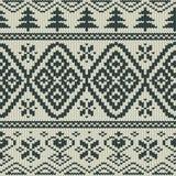 Scandinavian knitted seamless pattern Stock Photos