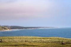 Scandinavian landscape in Scane County stock photos
