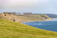Scandinavian landscape in Skane stock images